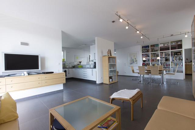 Offener Wohnbereich Nach Umbau Modern