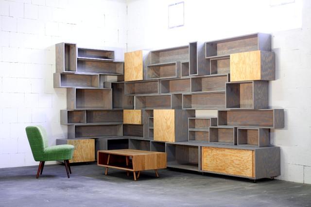Wohnzimmer Regale Modern - Wohndesign -