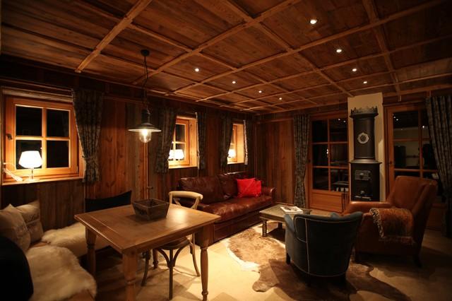 stube rustikal wohnzimmer m nchen von timbercraft. Black Bedroom Furniture Sets. Home Design Ideas