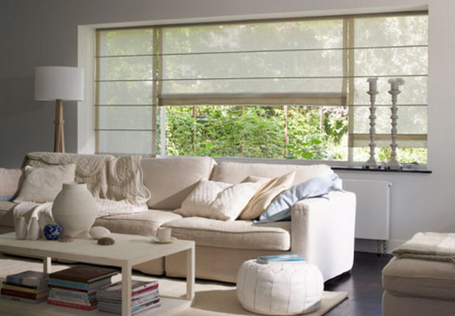 Beautiful Moderne Raffrollos Wohnzimmer Ideas - House Design Ideas ...