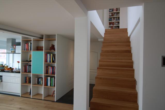 treppenschrank modern wohnbereich m nchen von. Black Bedroom Furniture Sets. Home Design Ideas