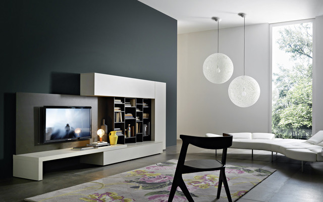 tv wand lampo l2 21a bauhaus look multimedia m bel. Black Bedroom Furniture Sets. Home Design Ideas