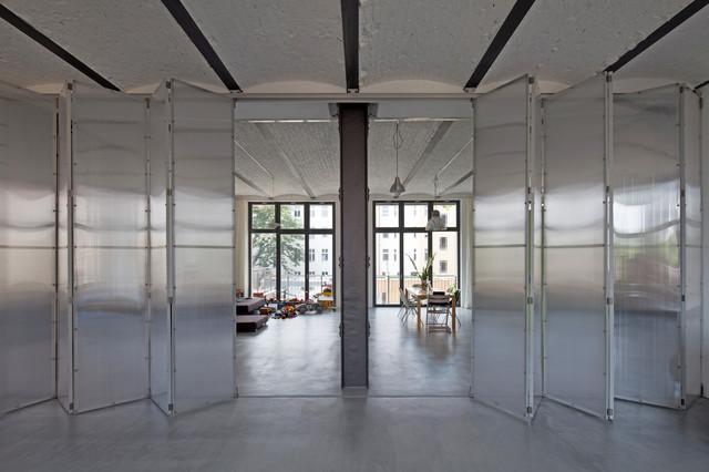 umbau fabriketage faltschiebewand iii industrial. Black Bedroom Furniture Sets. Home Design Ideas