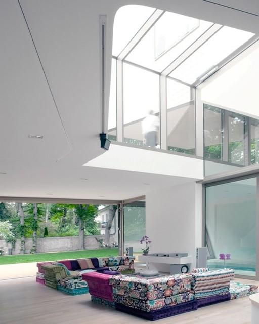 villa m - atrium - modern - wohnzimmer - berlin - von hs ...