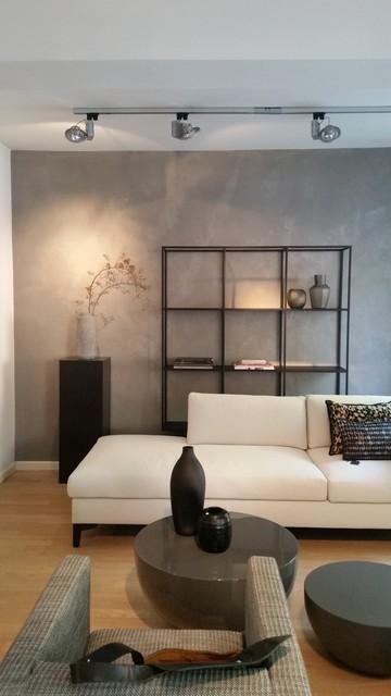 wand betonoptik modern wohnzimmer m nchen von beton2. Black Bedroom Furniture Sets. Home Design Ideas