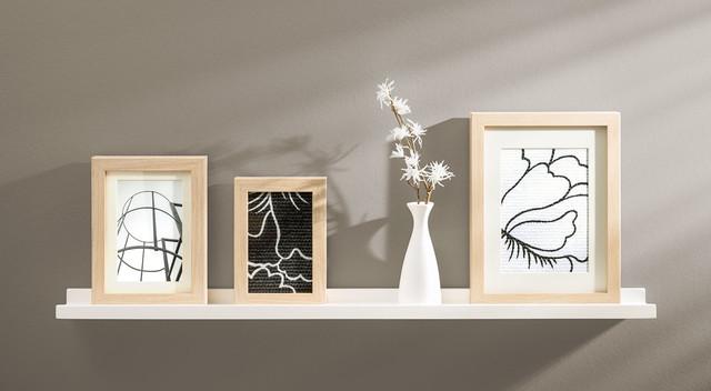 wandregale bilderleiste border mit dekoration wohnbereich frankfurt am main von regalraum. Black Bedroom Furniture Sets. Home Design Ideas