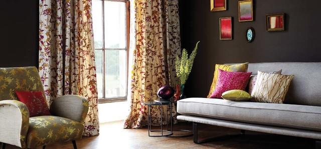 Warme Farben & verspielte Muster - Mid-Century - Wohnzimmer ...