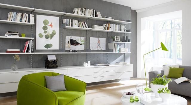 Wohnbereich Regalsystem On Wall Modern Wohnzimmer Frankfurt Am Main Von Regalraum Houzz