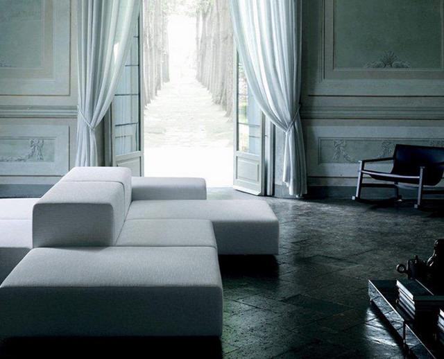 Wohnzimmer Altbau In Weiss Modern Wohnbereich