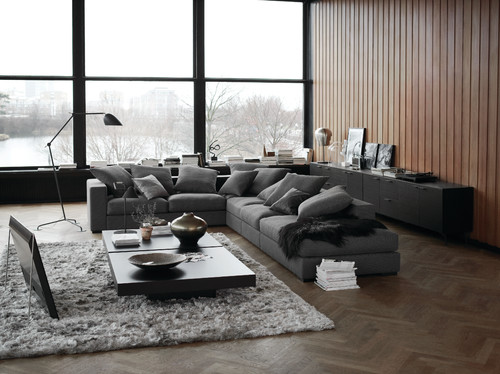 inspirationen f r gem tliche sitzecken mit wohnlandschaften und ecksofas. Black Bedroom Furniture Sets. Home Design Ideas