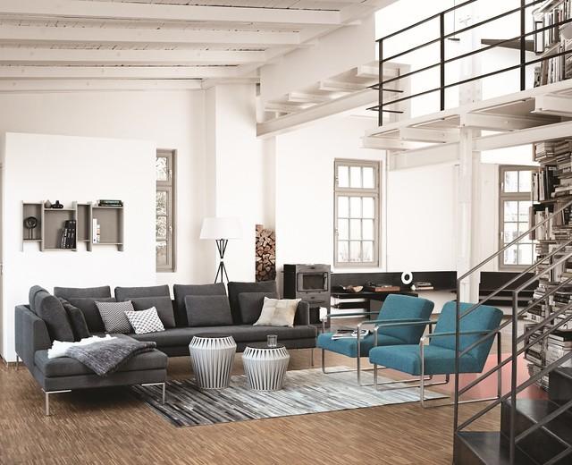 wohnzimmer industrial wohnbereich d sseldorf von. Black Bedroom Furniture Sets. Home Design Ideas