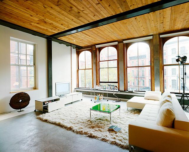 Wohnzimmer Mit Holzdecke Modern Wohnbereich