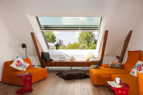 6 Tipps, wie Sie Wohnzimmer im Dachgeschoss einrichten