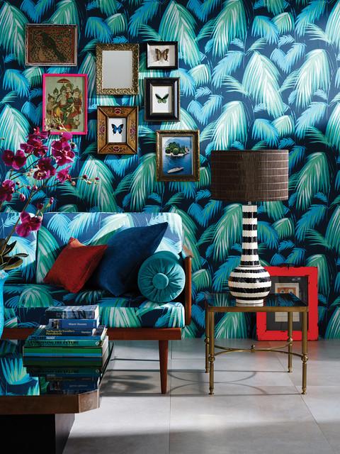 Wohnzimmer Tapete und Stoff von Osborne & Little Cubana ...