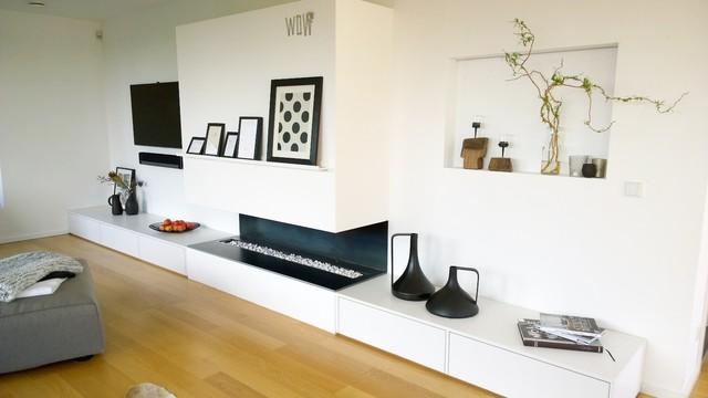Wohnzimmer Vorher-Nachher - Scandinavian - Family Room - other ...