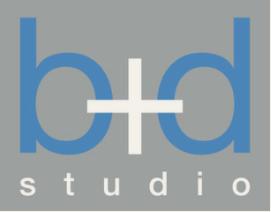 b+d studio logo