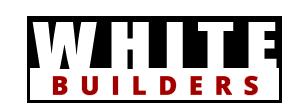 White Builders logo