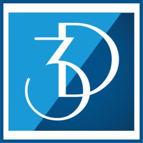 3-D Design logo