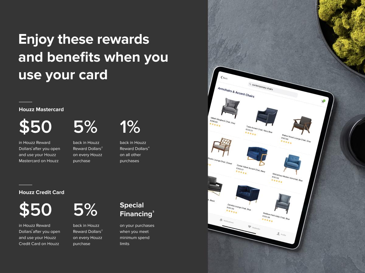 houzz credit cards rewards and benefits